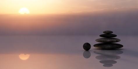 piedras y equilibrio